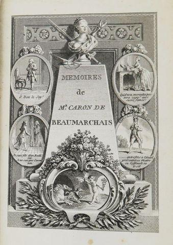 BEAUMARCHAIS (Pierre-Augustin Caron de). Mémoires de Mr Caron de ...