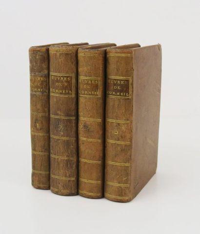 CORNEILLE (Pierre & Thomas). Chefs-d'œuvre. Londres, sn, 1786. 4 ...