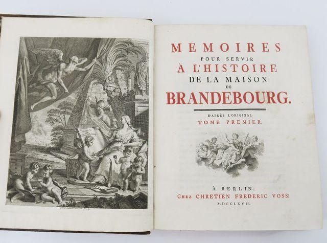 [FRÉDÉRIC II DE PRUSSE]. Mémoires pour servir à l'histoire de la ...