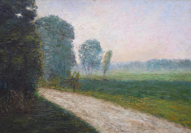 C. DESLANDRE (XIX-XXe) Paysage Huile sur toile signée en bas à ga...