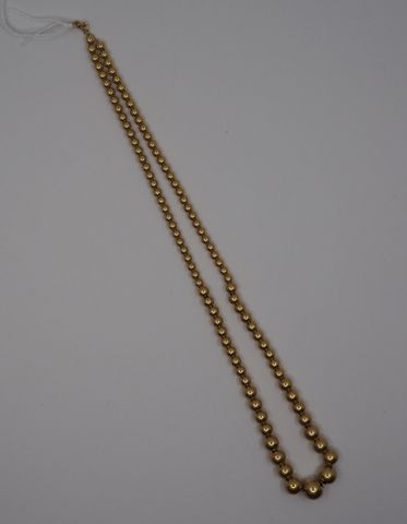 Collier boules or Pds 10 grs