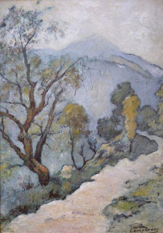 Edmond LEMPEREUR (1876-1909) Peillon Huile sur panneau signée en ...