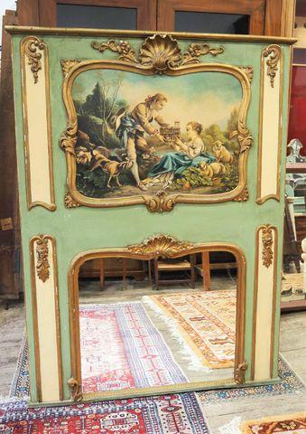 Trumeau style Louis XV, Travail moderne 165 x 121 cm
