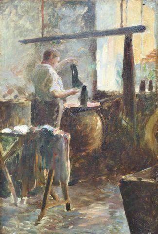 Ecole FRANCAISE Fin XIXème siècle Huile sur toile signée BENARD. ...