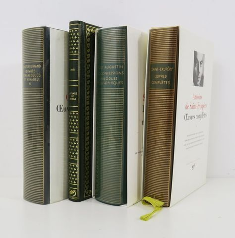 Pléiade (La). 3 volumes: SAINT AUGUSTIN, Les Confessions - Dialo...