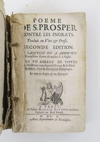 SAINT PROSPER d'Aquitaine. Poème contre les ingrats… Paris, Veuve...