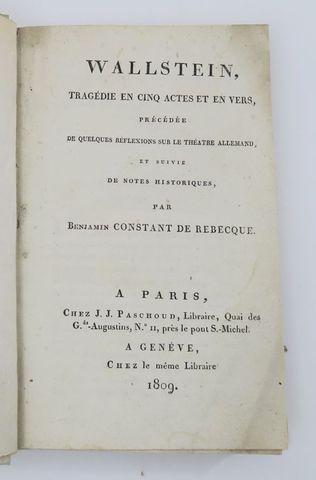 [SCHILLER (Friedrich von)]. Wallstein, tragédie en cinq actes et ...