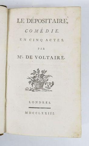 VOLTAIRE (François-Marie Arouet de). Le Dépositaire. Comédie en c...