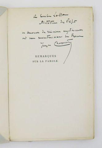 CHARPENTIER (Jacques). Remarques sur la parole. Paris, Jacques Ha...