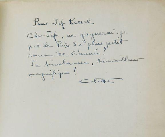 COLETTE. Le Toutounier. Paris, Ferenczi, 1939. In-12 broché, couv...