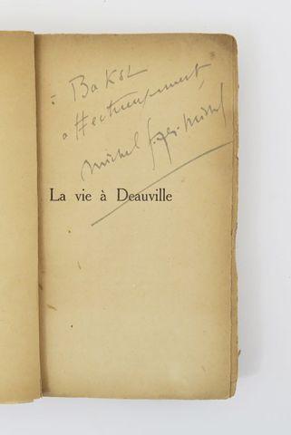GEORGES-MICHEL (Michel). La Vie à Deauville. Couverture de VAN DO...