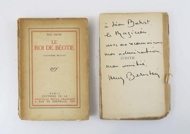 JACOB (Max). Le Roi de Béotie. Paris, nrf - Gallimard, 1921. In-8...