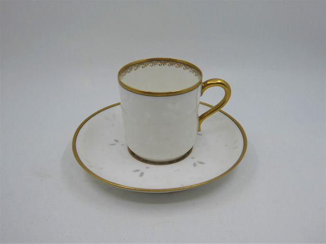 HAVILAND Limoges fin XIXème siècle Tasse et sous-tasse en porcela...