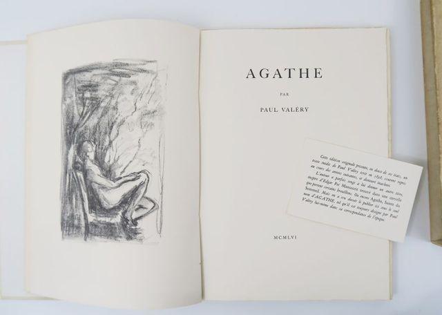 VALÉRY (Paul). Agathe. sl, sn, 1956. 2 vol. in-folio broché et en...