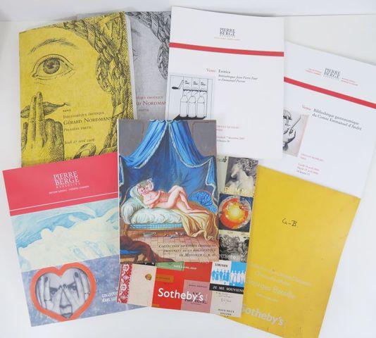 [Catalogues de vente - Curiosa]. Ensemble de 4 catalogues:  - Bi...