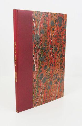 MORTET (Charles). Le Format des livres. Paris, Champion, 1925. In...