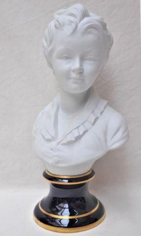 THARAUD Limoges Buste d'Alexandre BRONGNIARD d'après HOUDON Sujet...