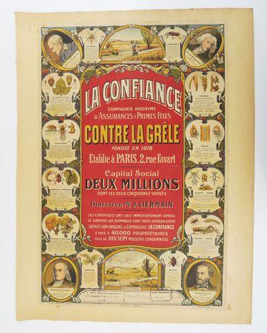 Affiche. La confiance contre la grêle. Orléans, A. Gout & Cie, 19...