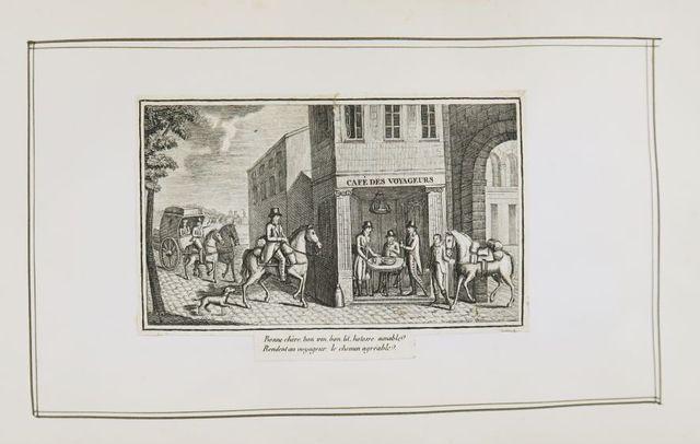 Album amicorum. Album in-8 oblong, c. 1820, cartonnage en demi-ma...