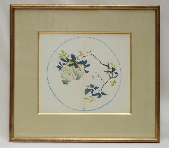 CHINE XIXe siècle Paire d'estampes en couleurs tirée du