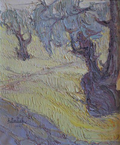 Liuboslav HUTSALIUK (1923-2003) Paysage Huile sur toile SBG et da...