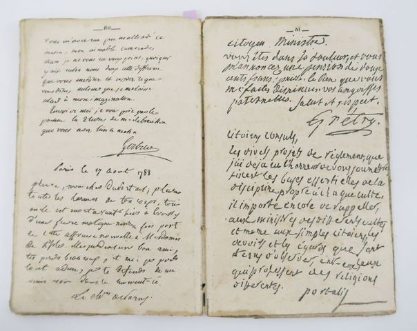 [Calligraphie]. Recueil de fac-simile de toutes espèces d'écritur...