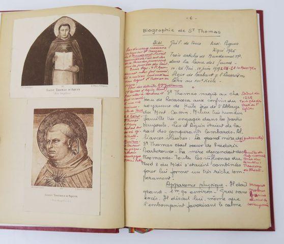 Manuscrit. Logique et philosophie de la nature. [par le] R.P. LAL...