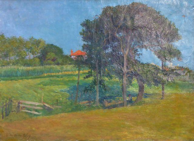 Gaston Pierre GALEY (1880-1959) Paysage Huile sur toile signée en...