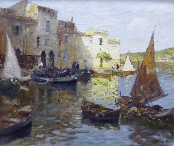 Merio AMEGLIO (1897-1970) Les Martigues Huile sur toile SBD 55 x ...
