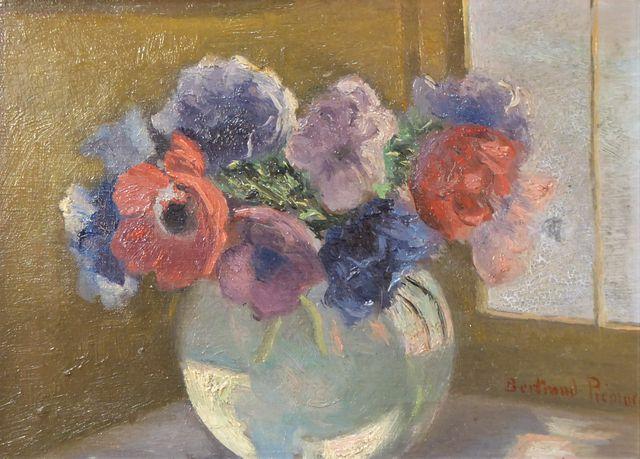 BERTRAND-PIÉMORE (1884-1972) Bouquet de fleurs Huile sur toile SB...