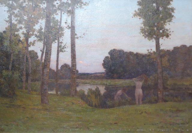 Henri THIEROT (1863-1905) Baigneuses symbolistes Huile sur toile ...