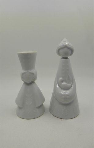 Jean-Jacques PROLONGEAU (1917-1994) Deux figurines en porcelaine ...