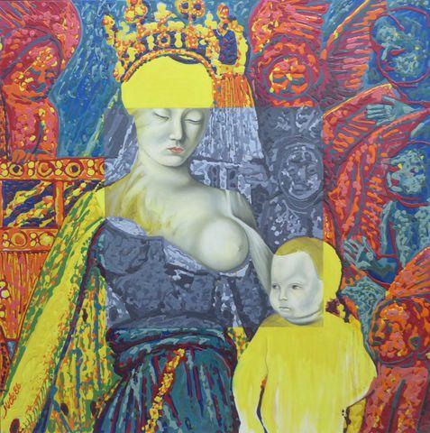 Patrick JUDE (1944) Dedans et dehors, 1986 Huile sur toile signée...