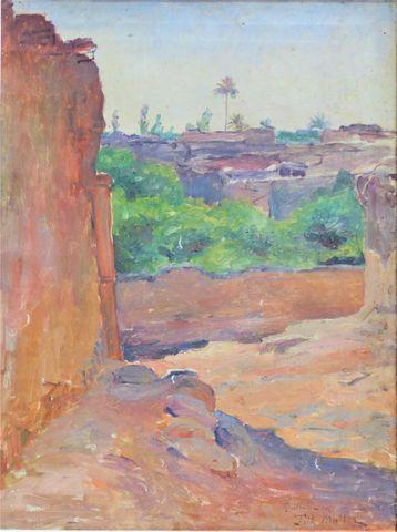 Fritz MÜLLER-SCHWABEN (1879-1957) Msilah 1901 Huile sur toile SBD...