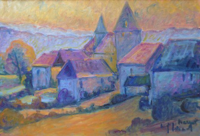 Yvette LINOL (XX-XXIème) Paysage Huile sur toile signée en bas à ...
