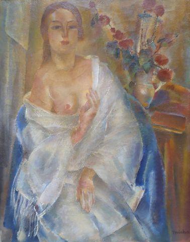 Maurice-Jean MICHA (1890-1969) Portrait de femme Huile sur toile ...