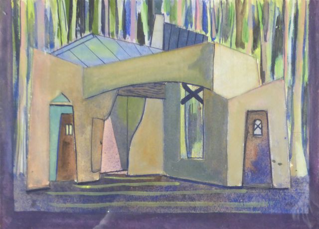 Antoine MALLIARAKIS dit MAYO (1905-1990)  La Maison Aquarelle sur...