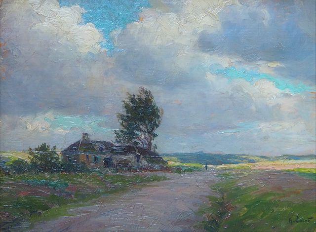 Alexandre JACOB (1876-1972) En haut de la côte - Environs de Méni...