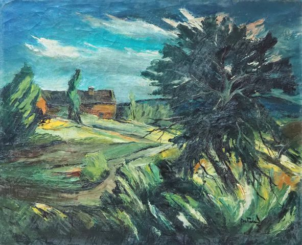 Anders OSTERLIND (1887-1960) Paysage Huile sur toile SBD 60 x 73 ...