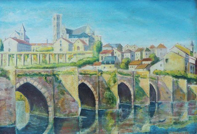 R. TAILLANDIER (XIX-XXe) Limoges, le pont Saint-Etienne Huile sur...