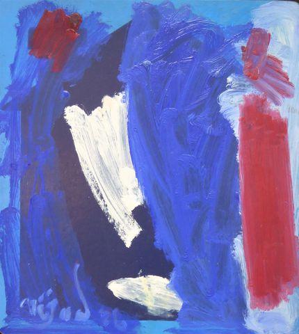 Nejad DEVRIM (1923-1995) Composition abstraite Huile sur panneau ...