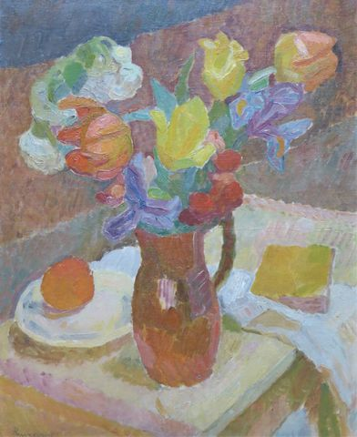 Zdzislaw RUSZKOWSKI (1907-1990) Nature morte au bouquet de fleurs...