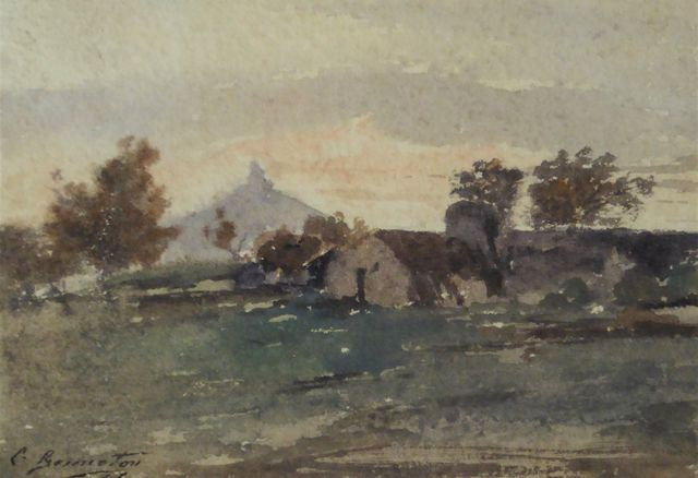 Louis BONNETON (1851-1933) Paysage Aquarelle sur papier signée et...