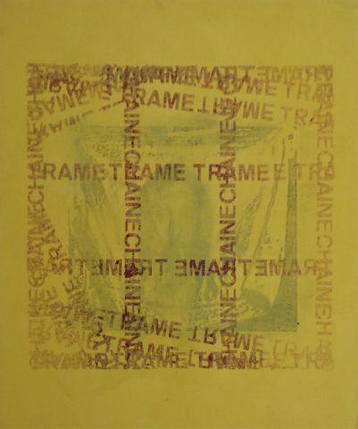Jean MAZEAUFROID (1943-2001) Quadriptyque Chaîne et Trame Acryliq...