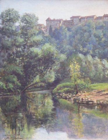 Albert GASSE (XIX-XX) Paysage Huile sur panneau signée et datée a...