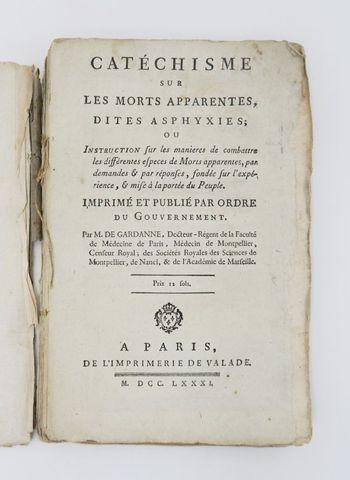GARDANNE (Jacques-Joseph de). Catéchisme sur les morts apparentes...