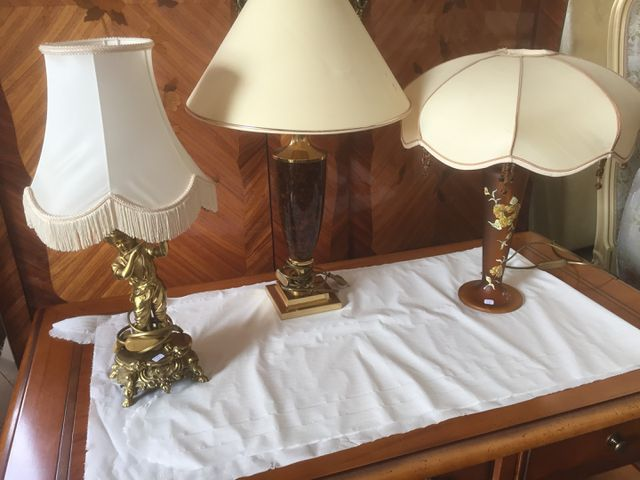 LOT DE 3 LAMPES