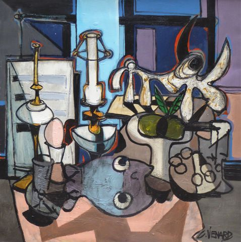 Claude VENARD (1913-1999) Nature morte Huile sur toile signée en ...