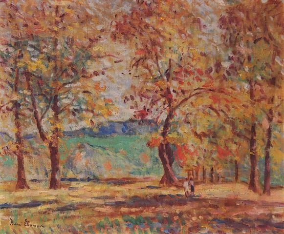 Pierre THOMAS (1865-1930) Paysage du Limousin 1930 Huile sur toil...