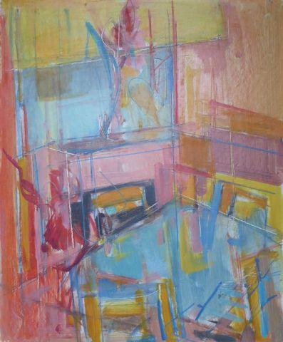 Paul MARS (1905-1981)  L'Atelier Huile sur isorel signée au dos 6...